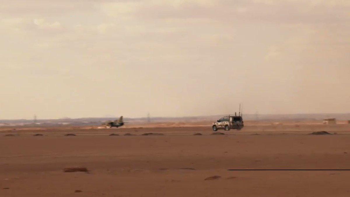 LNA has full control over Libya's south. First Libyan National AF LNAF airplane (MiG-23UB) landed in Birak al-Shati AB yesterday.