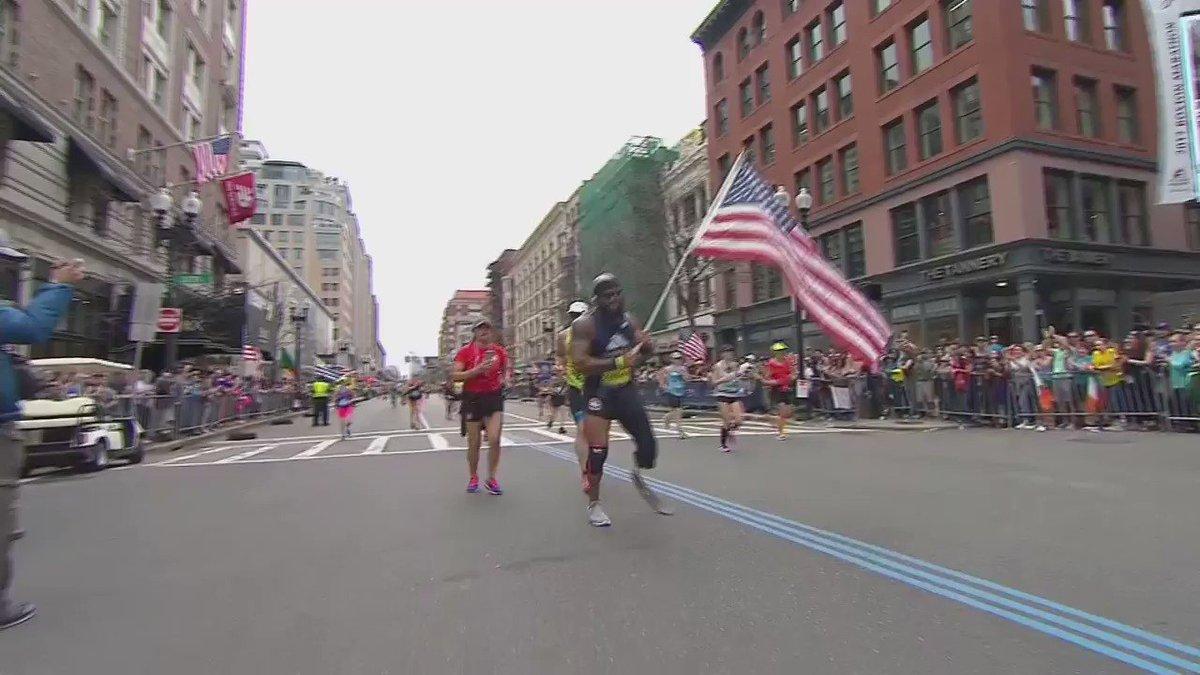 Wounded #Marine Jose Sanchez finishes the @bostonmarathon. More on Sanchez - https://t.co/5kYyV2JrFu #BostonMarathon https://t.co/uTXTP2O24x