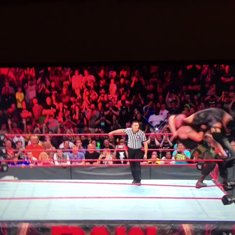 Flipped over to Raw just in time for this... https://t.co/lnGUOtPDbm