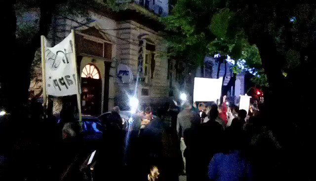 Anti-government protest in Nish, Serbia