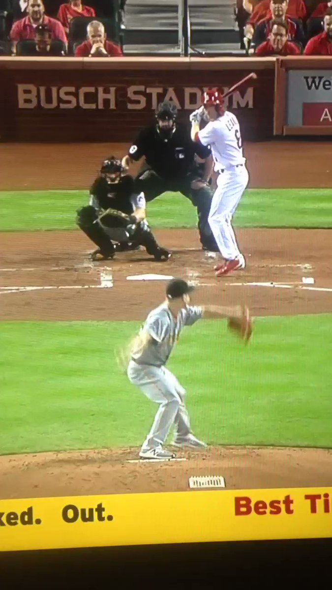 """McCutchen after another nice catch in center field: """"This my spot."""" https://t.co/3XNtu6PgOb"""