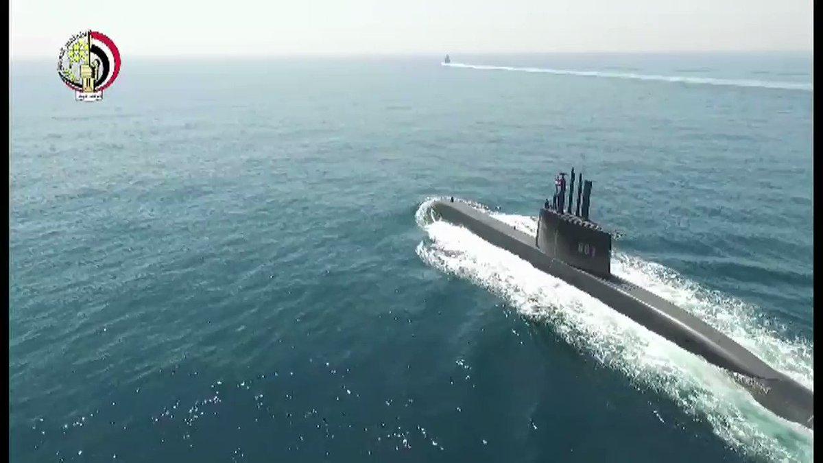 Army spox :  German submarine arrives shots Egyptian Navy.