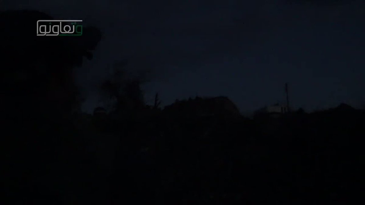 Night time operations of rebels in Eastern Damascus against govt.