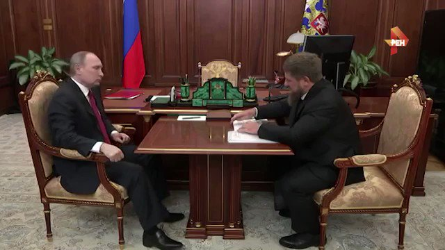 Kadyrov met Putin in Kremlin, and denied any accusations in human rights violations