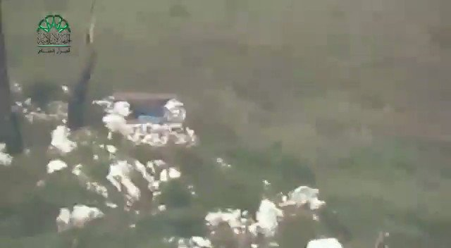 N. Latakia: Ahrar Al-Sham blew up with a TOW a fortified position with 14.5 mm gun on Saraf front in Jebal Turkman.