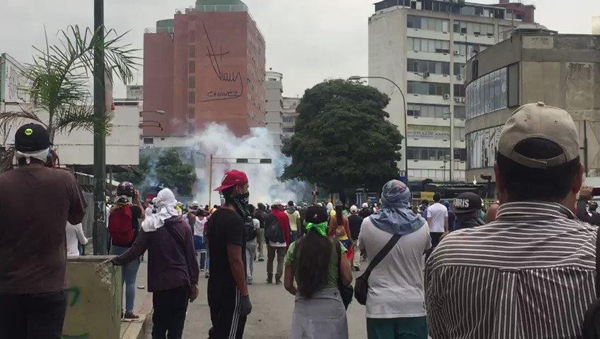 Protests continue in Venezuela. Video from El Rosal, Caracas