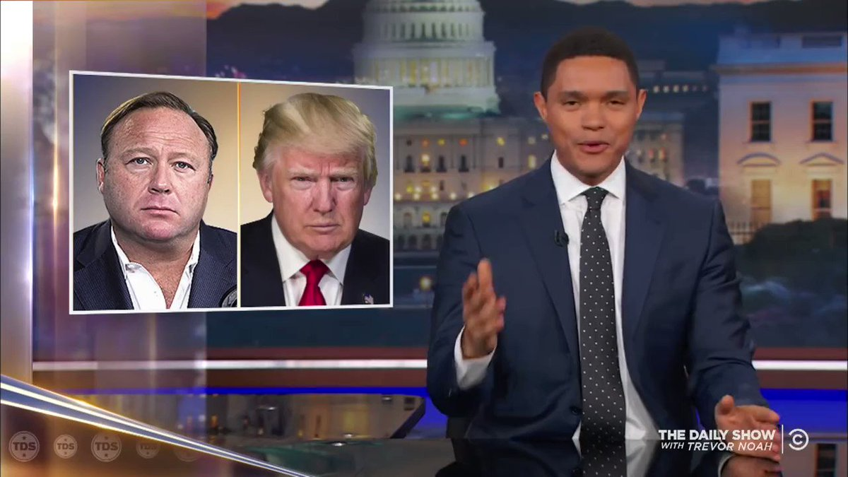 Trevor Noah in his finest form. Here doing an impression of Donald Trump the British snob. https://t.co/QwFBmAYba1