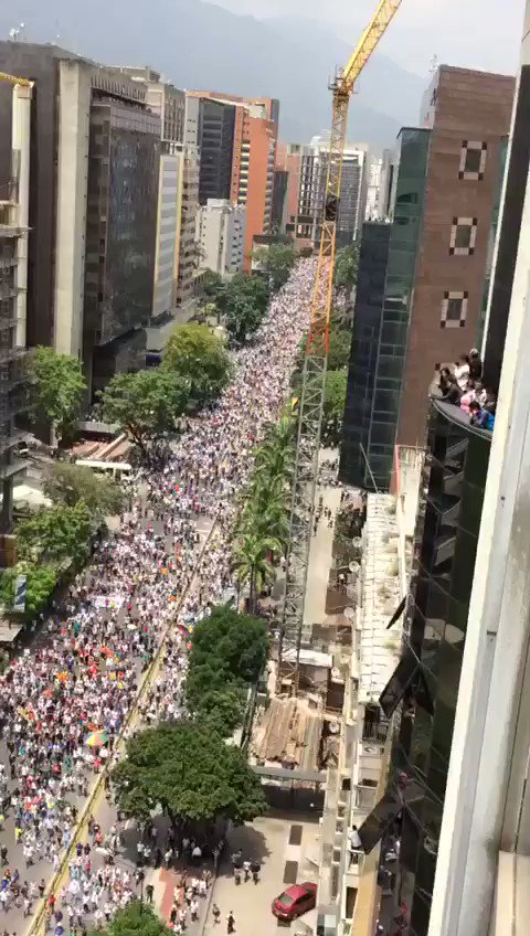 Another day of massive demonstrations against the dictatorship in Venezuela.