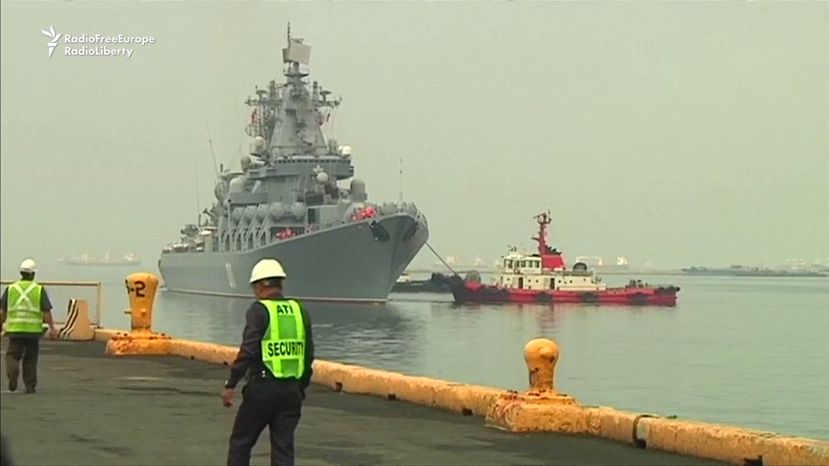 A Russian warship has docked in the Philippines