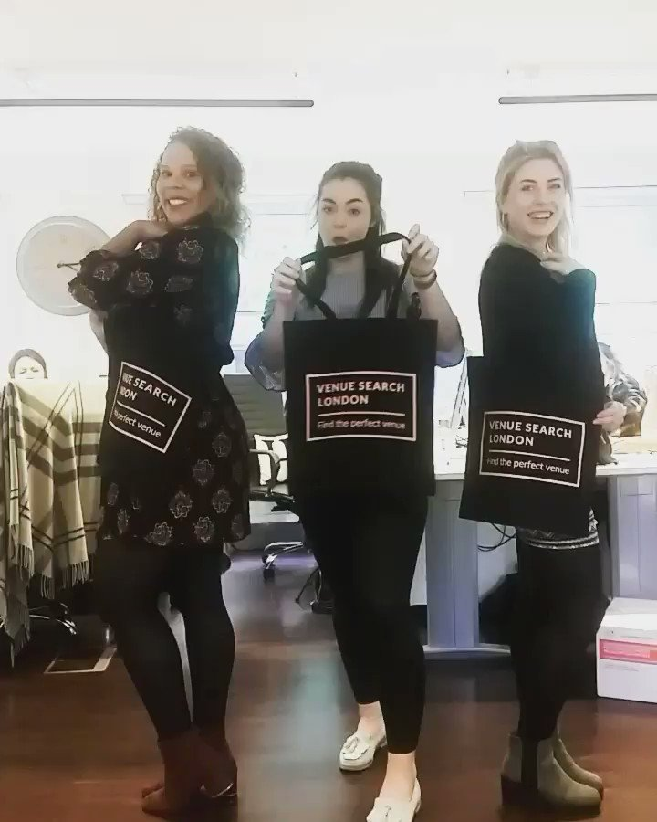 Loving our branded tote bags we can't wait to start giving these out #eventprofs #branding #freevenuefinder https://t.co/7vZsYAbLRk