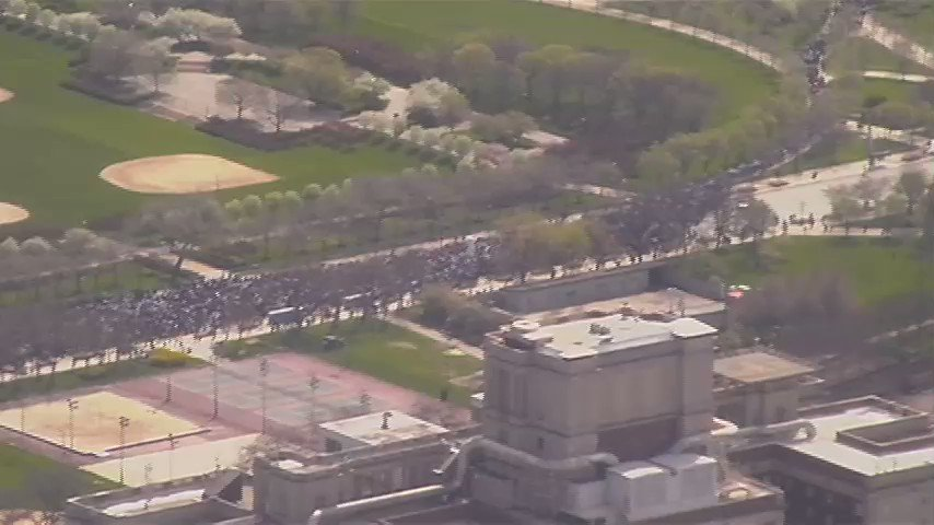 TRUMP: The protesters are paid. These marches are small. Well, here's Chicago today: