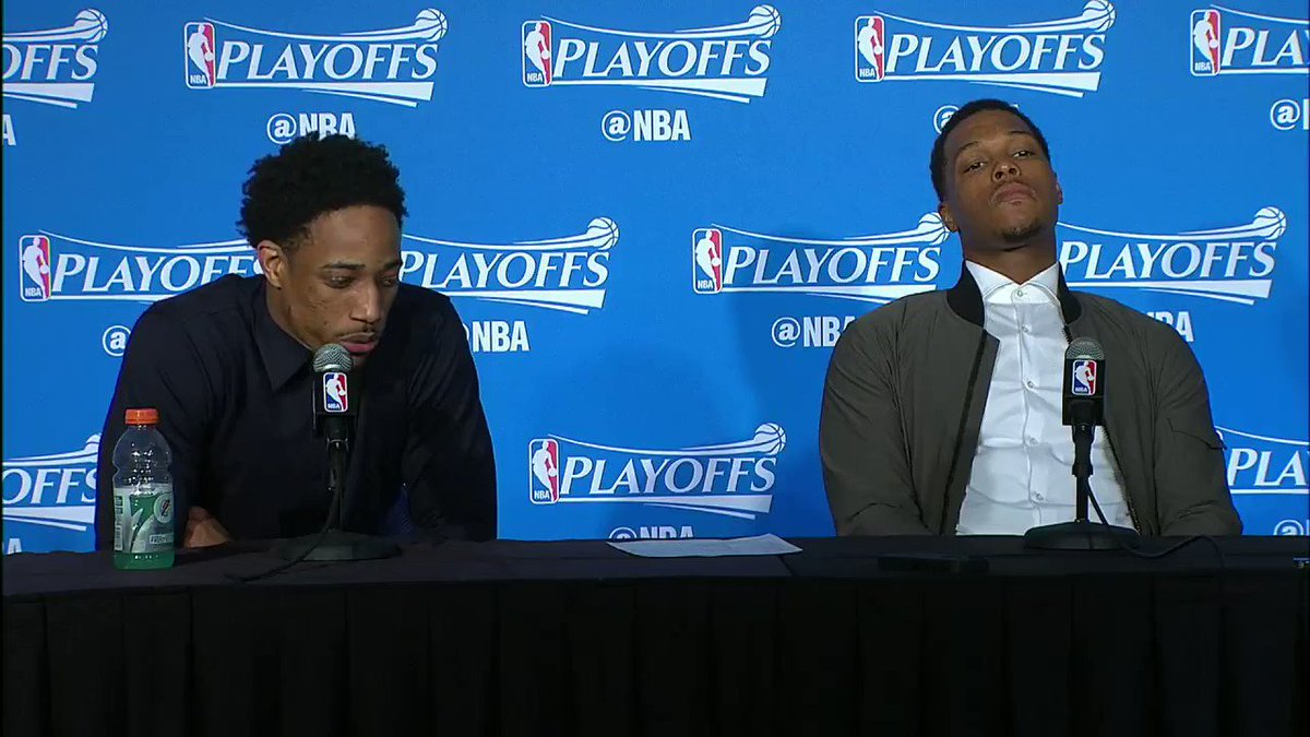 Kyle Lowry poking fun at DeMar DeRozan will never get old.  I love the...