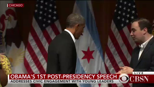NOW: Former President Obama delivers first major speech since leaving...