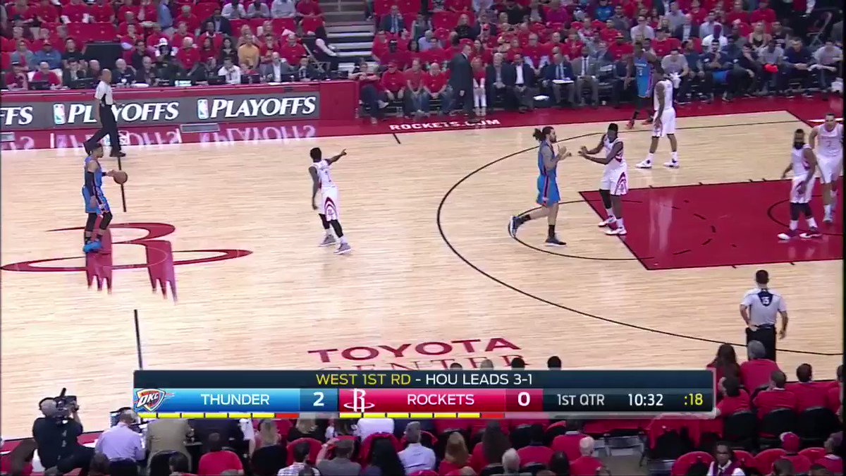 Jumper from Taj! Thunder takes early 6-4 lead. #OKCvsHOU on @FOXSports...