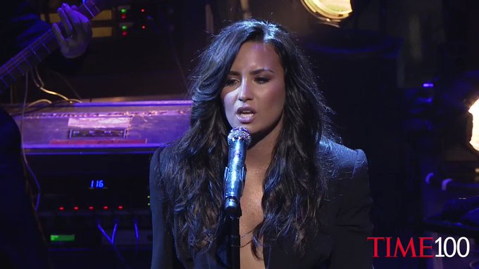 Watch Demi Lovato's performance at the #TIME100 Gala https://t.co/6mbL1h2QP1