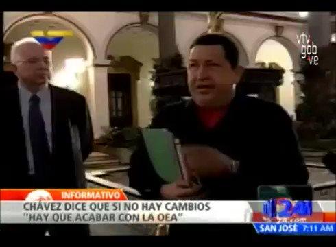 #VIDEO Chávez: Si no hay cambios, hay que acabar con la OEA https://t....