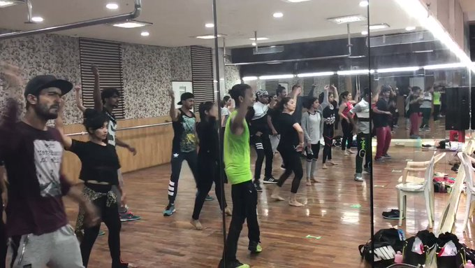 Hey Guys,rehearsing for the Durban Show. Wish you all a Happy #WorldDanceDay. Dance and stay fit- body n soul!!