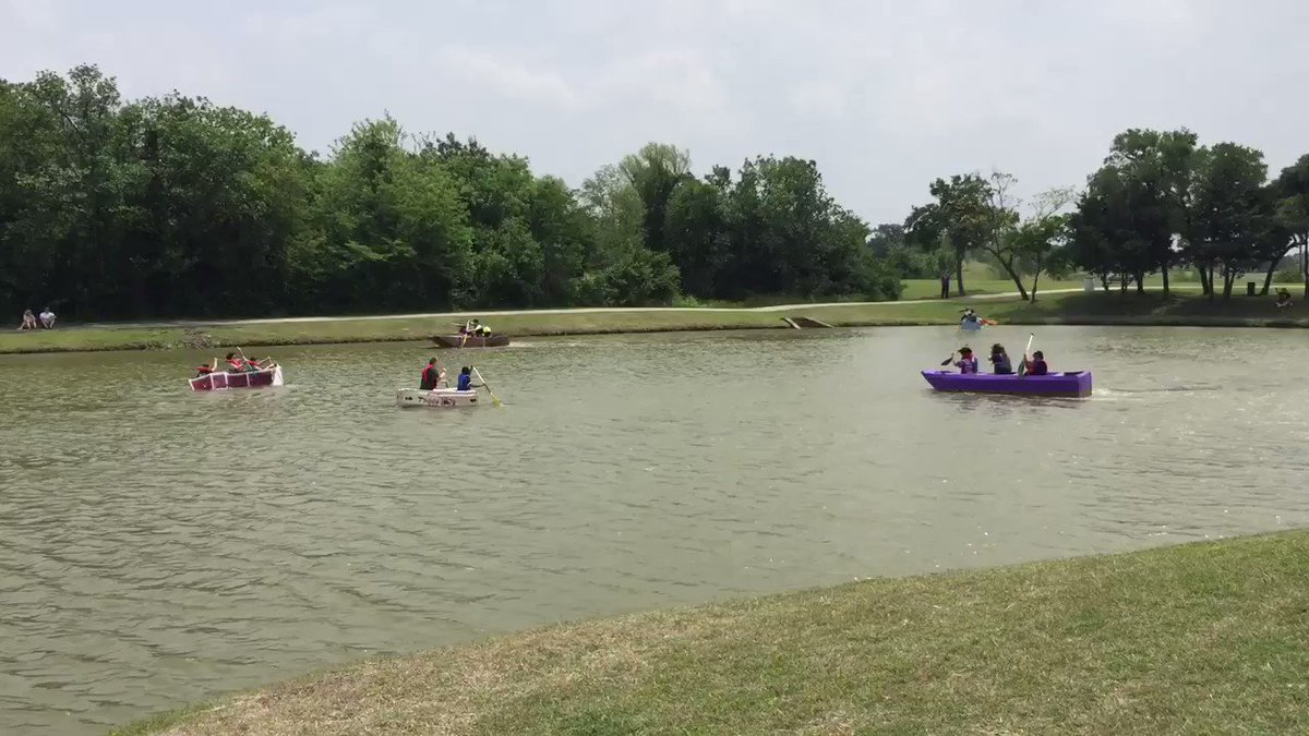 Unofficial cardboard boat races.  @crew_1978