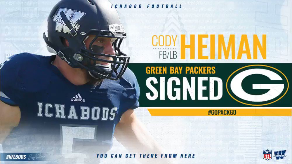 Congratulations to @CodyHeiman5 who signed with the @packers #GoBods #GoPackGo #NFLbods https://t.co/kiJKhFi6Fv