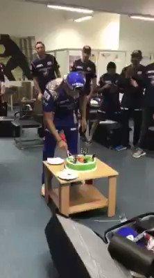 Happy Birthday Rohit Sharma Birthday Celebration with Team MI.