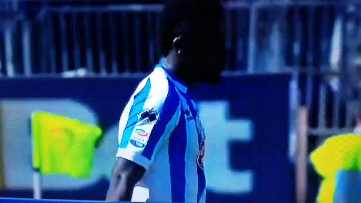 Sulley Muntari walks off pitch at Cagliari (playing for Pescara, Sunda...