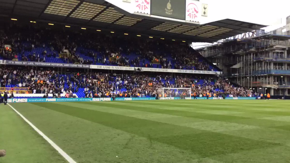 The fans aren't in any hurry to leave just yet. Listen to that noise! #COYS