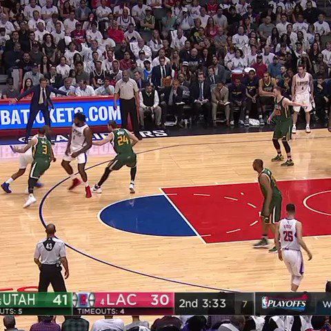 DeAndre Jordan is casually dunking over three people in Game 7. #SCtop...
