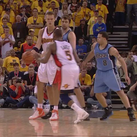 The last time the Jazz and Warriors met in the playoffs, Baron Davis detonated. https://t.co/L6pVVzwhfa