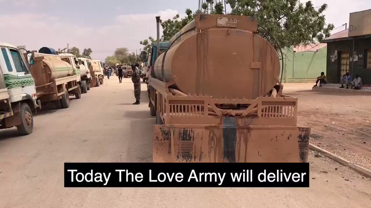 THIS STARTED WITH A CRAZY IDEA. BUT TODAY WE DELIVER 100,000 LITERS OF WATER!! LET'S KEEP GOING #LOVEARMY https://t.co/ksucFkLuuq