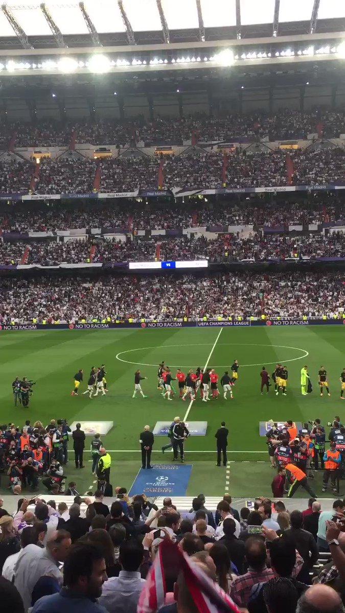 Que empieze este gran partidazo!! @realmadrid vs @Atleti #ChampionsLeague
