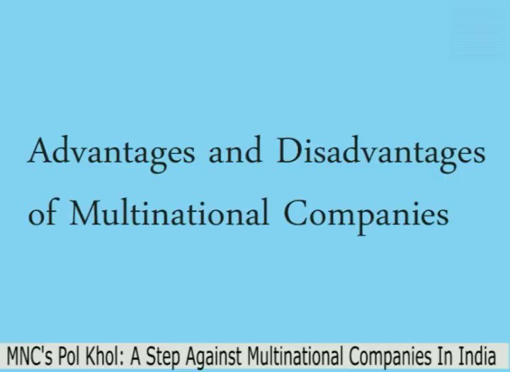 disadvantages of multinational companies to the home country