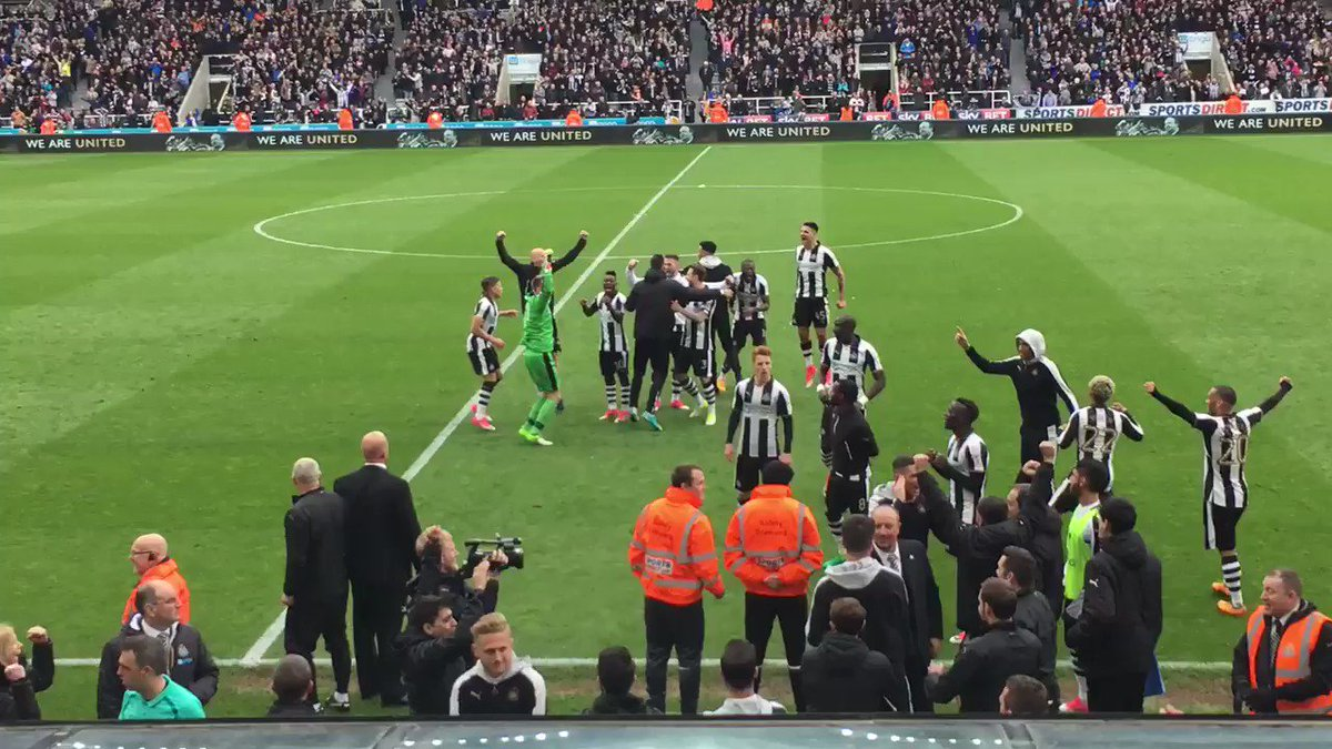 The moment #NUFC heard they were champions... https://t.co/lCbw8lHBPj