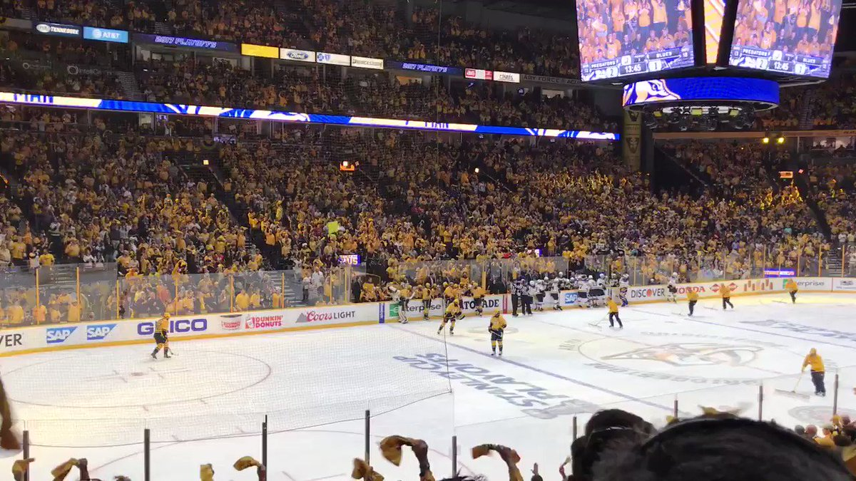 During the commercial!!! #Preds https://t.co/vF5SqAyNNm