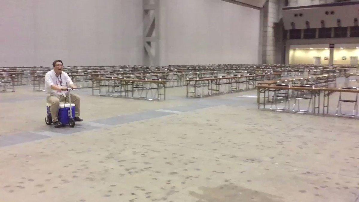 クーラーボックス電動バイク 東京ビッグサイトを爆走する博麗神社例大祭代表氏 https://t.co/PP8L2Jmbpu