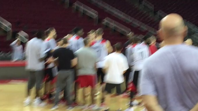 sung Happy Birthday to Mike D\Antoni before practice.