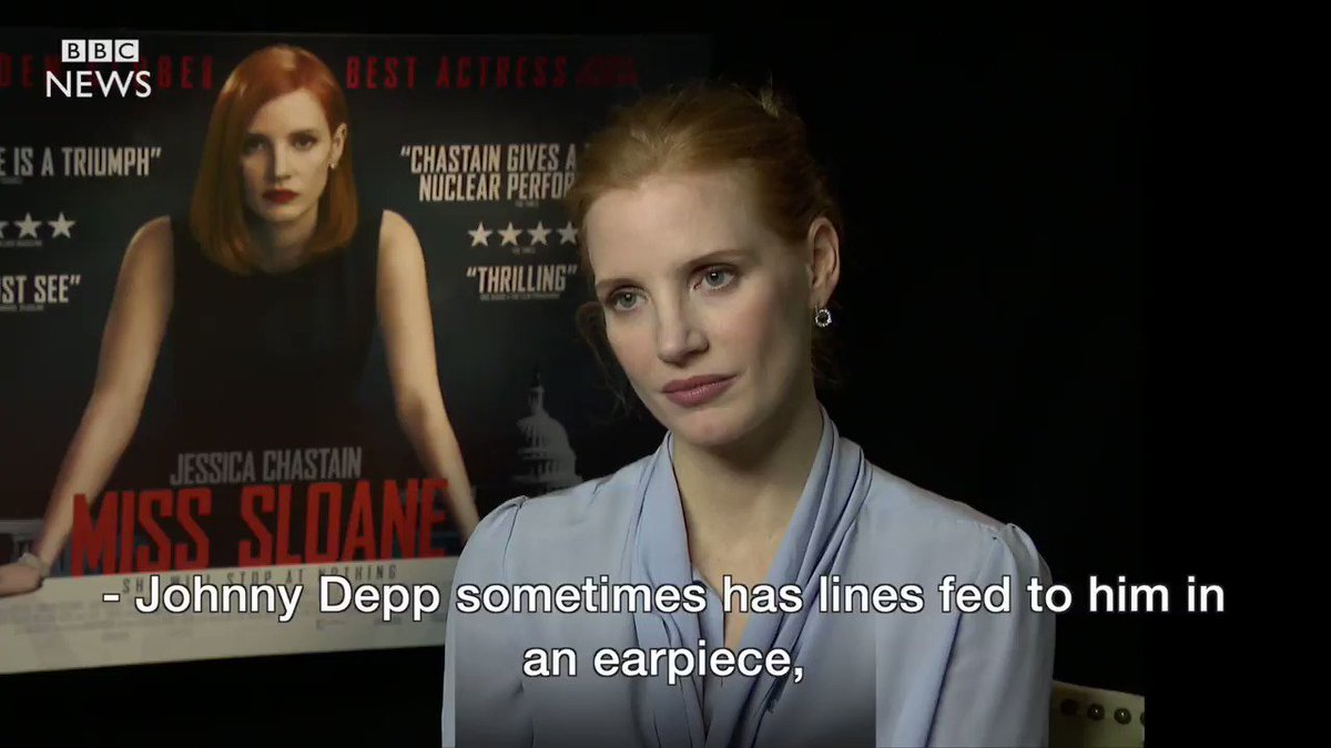 Jessica Chastain's reaction to this Johnny Depp question was everything