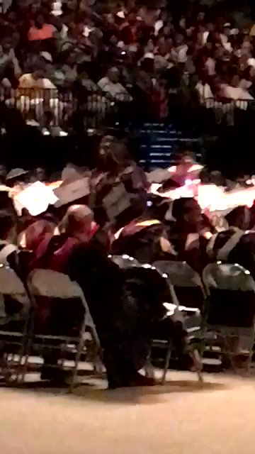 Student turns back on @BetsyDeVos when her name is announced. https://t.co/ZuYcr15NOg