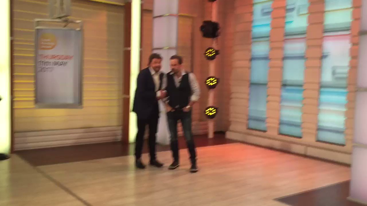 Look whose lurking in the wings @GMB - naughty boys #michaelball & #alfieboe - next!!! https://t.co/XgjqZxtXeJ