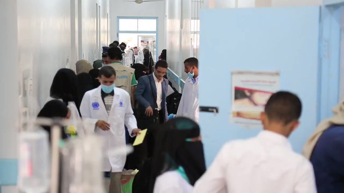 Video taken today by @UNICEF of Cholera crisis in Yemen Hospitals so packed, sick children treated in corridors on the floor
