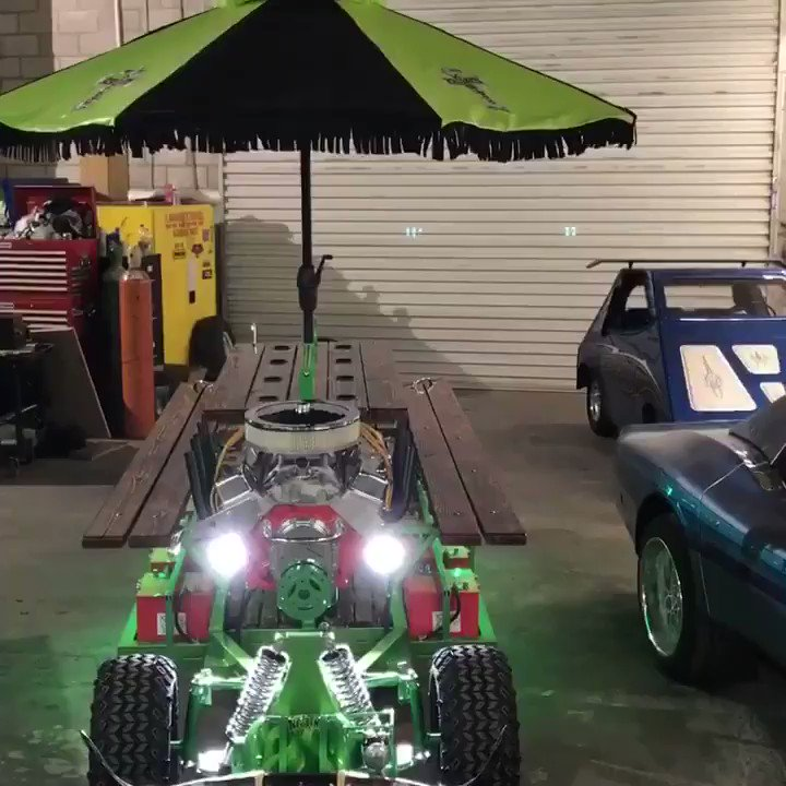 Horny Mike On Twitter As Seen On Countingcars Last Night My New - Motorized picnic table