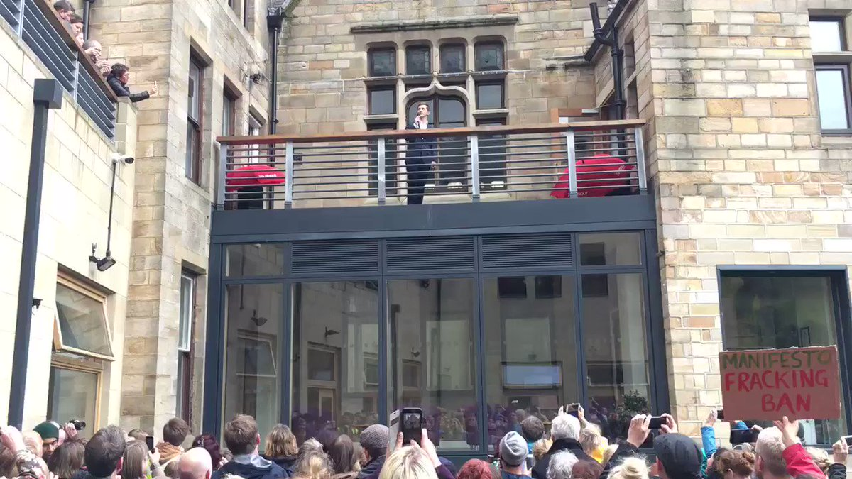 Jeremy Corbyn repeating his Hebden Bridge speech for those who couldn't fit into the room https://t.co/dNLcFIDReg