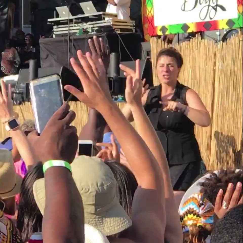 When it comes to signing at rap shows, SHE GOES HARD. #ASL #Deaf #DeafAwarenessWeek