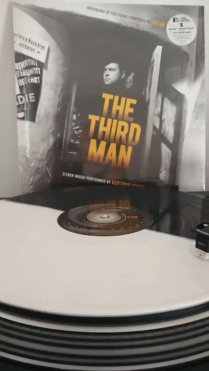#TheThirdMan (1949, #CarolReed) score by #AntonKaras on limited edition black & white split #vinyl by @SilvaScreen #OrsonWelles #cuckooclock