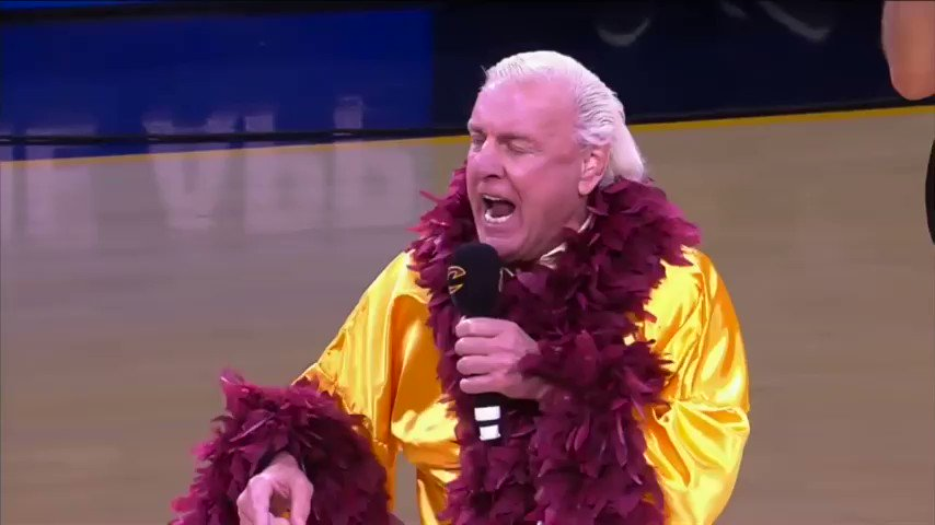 Quick first half recap of #Cavs dominance, courtesy of @RicFlairNatrBoy. #Wooo https://t.co/07f4e2QfaK
