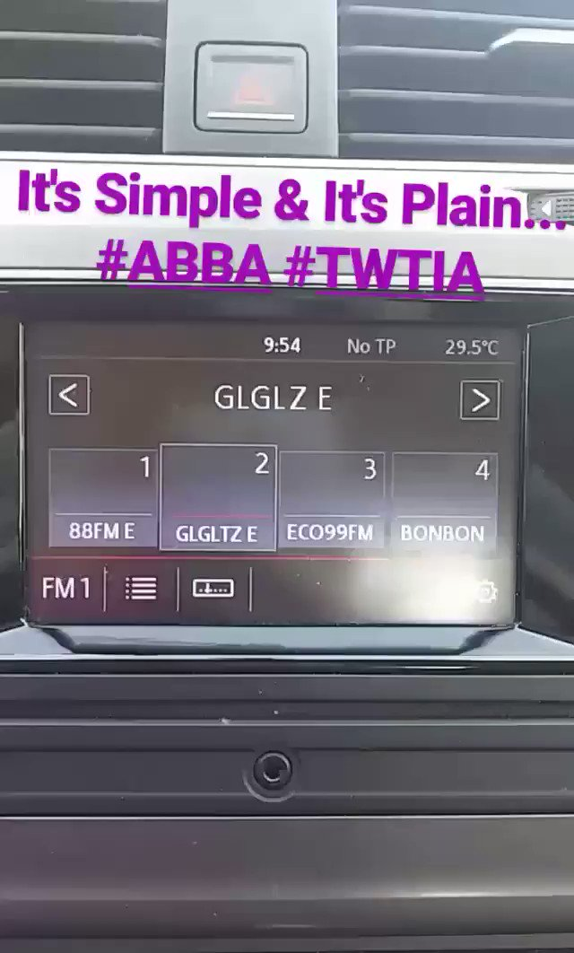 This Radio Station Knows Me All Too Well 🙌🙌 #ABBA #TWTIA #GLGLZ @benikvodi