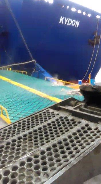 Video del Barco de Ferries del Caribe que chocó en el Puerto de Santo Domingo. https://t.co/hU6Qa3xCO6