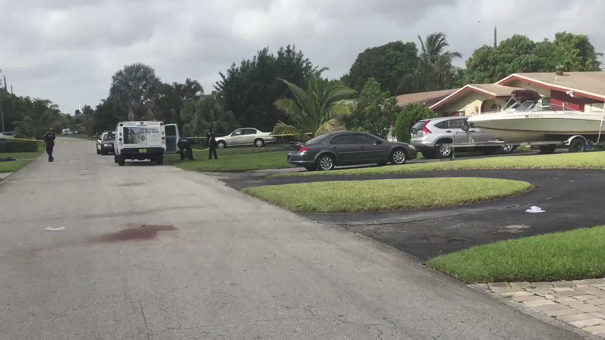 Miami: Police searching for 2 intruders they say shot a man and a dog this morning