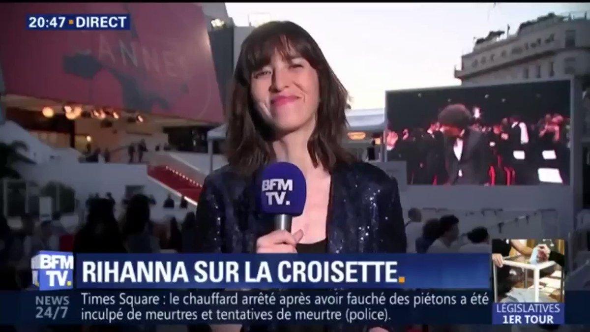 Quand #Rihanna fait crépiter les flashs au Festival de Cannes
