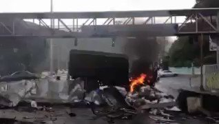 Seized National Guard truck was set on fire