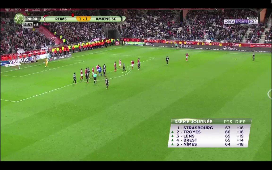 95e : Amiens est 6e de #Ligue2. Et trent...